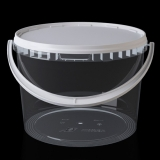 Ведро 5,6 л прозрачное пищевое круглое с крышкой