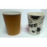 Стакан бумажный 250мл д/горячих напитков (50шт/уп) КРАФТ(РИСУНОК)