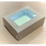 Коробка с окном 100*80*45 (Крафт)\50