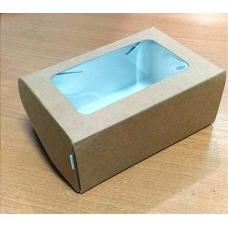 Коробка с окном 120*80*50 (Крафт)\50