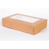 Коробка для салата с окном 200*120*40 (Крафт)\50