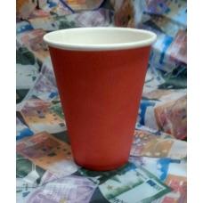 Стакан бумажный 350мл (50шт/уп) КРАСНЫЙ