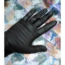 Перчатки виниловые ЧЕРНЫЕ 100 штук в упаковке