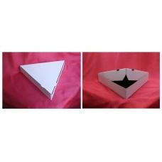 Коробка для ПИЦЦЫ 260*(3)*40 Треугольная (белая)\50
