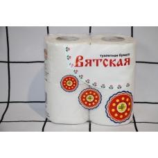 """Туалетная бумага """"ВЯТСКАЯ"""" 2 сл. 4-шт/12 шт/уп"""